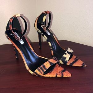Cape Robbin Shoes - Pointed toe tiger print stiletto heel